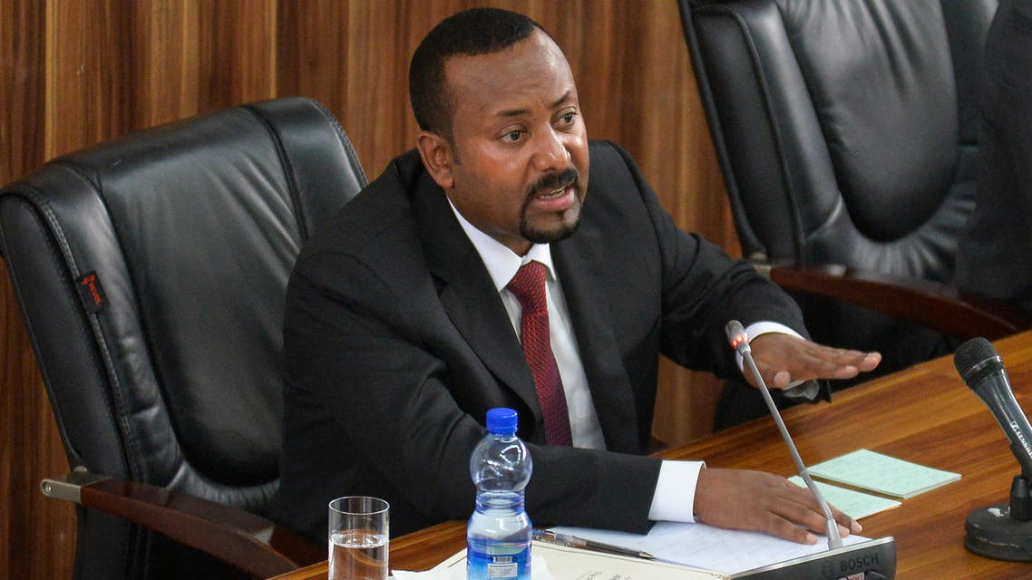 Ethiopia's Prime Minister Abiy Ahmed delivers a speech at the House of Peoples' Representatives of Ethiopia on the current political and economic issues of the country on February 3, 2020, in Addis Ababa.