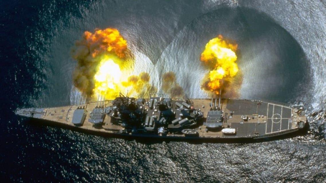 the-battleship-uss-iowa-fires-all-15-of-its-guns-during-a-news-photo-1602786667