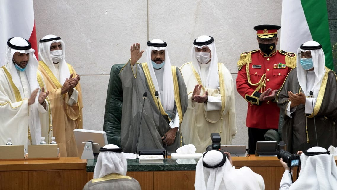 Kuwait's new Emir Nawaf al-Ahmad al-Sabah gestures as he attends a parliament session, in Kuwait City, Kuwait October 20, 2020. (File photo: Reuters)