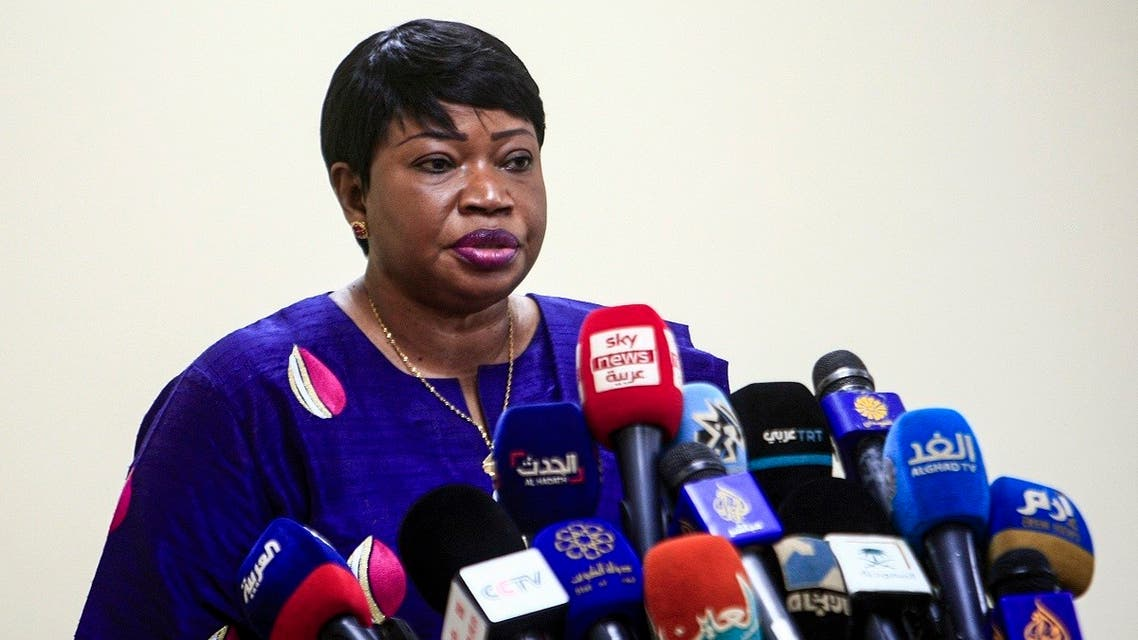 The International Criminal Court's prosecutor Fatou Bensouda gives a press conference in Sudan's capital Khartoum on October 20, 2020, at the conclusion of her five-day visit to the country. (AFP/Ebrahim Hamid)