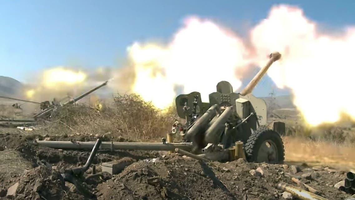 جنود أذربيجانيون أثناء القتال مع أرمينيا