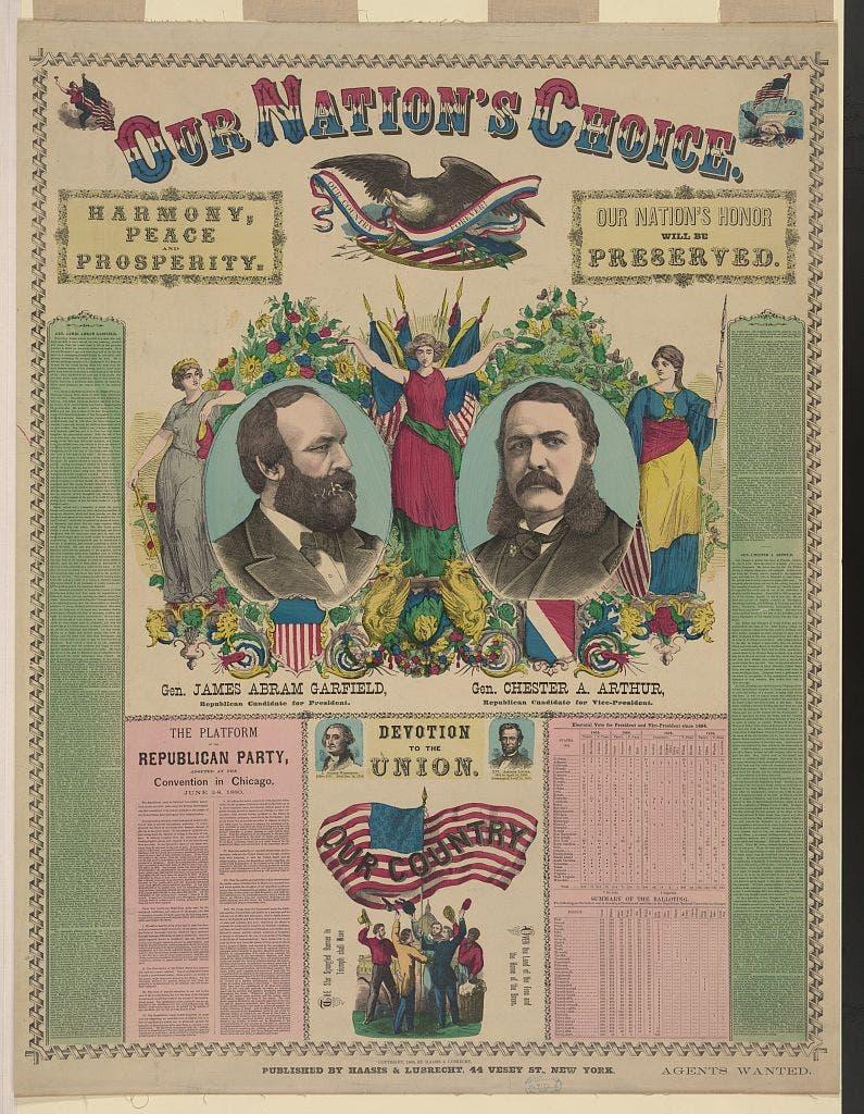 صورة دعائية للفائزين بإنتخابات 1880