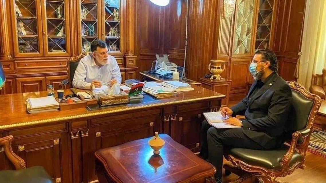 لقاء سابق بين رئيس هيئة مكافحة الفساد والسراج