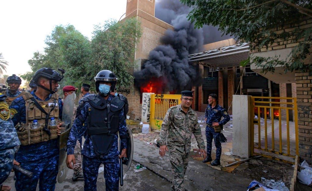 من محيط مقر الحزب الديمقراطي الكردستاني في بغداد - أرشيفية