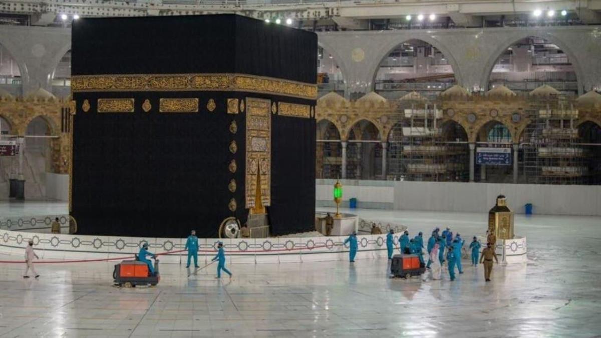 Masjid Haram cleaning Staff