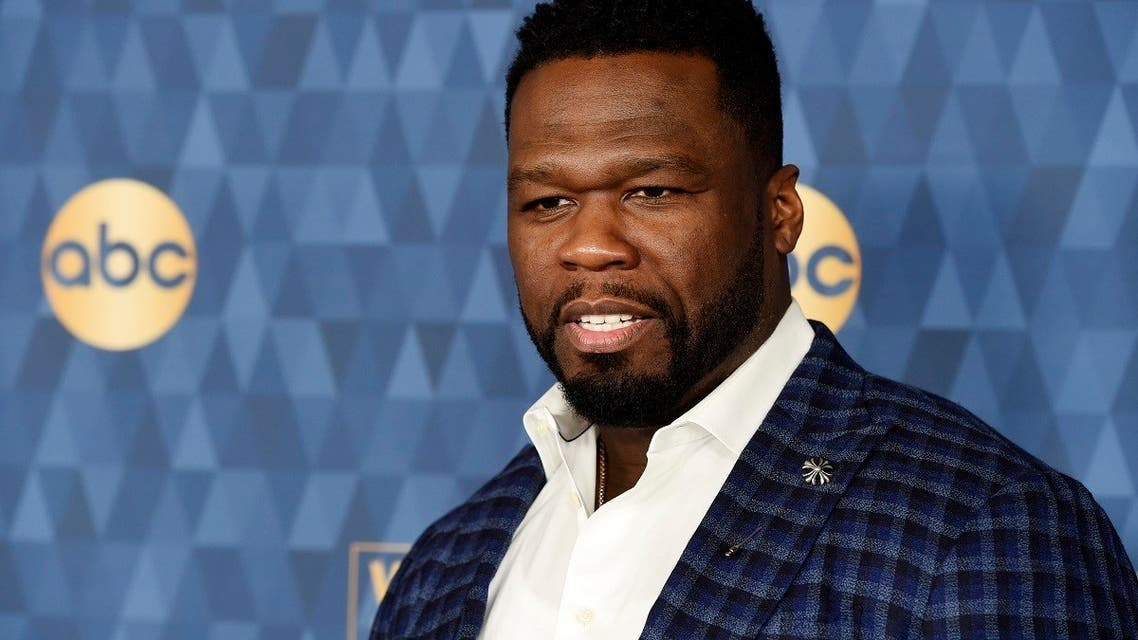 "Curtis ""50 Cent"" Jackson poses at the 2020 ABC Television Critics Association Winter Press Tour, Jan. 8, 2020, in Pasadena, Calif. (AP)"