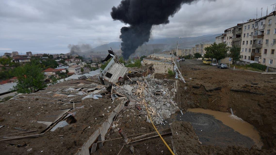 من إقليم ناغورنو كاراباخ يوم 4 أكتوبر