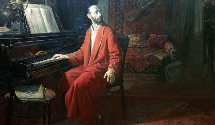 لوحة تجسد كومينيتاس أمام البيانو