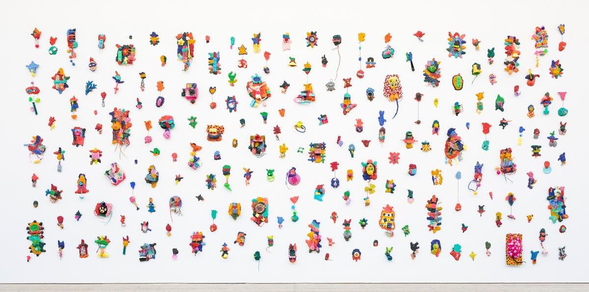 Hassan Sharif, Playfulness No. 1 , 2015. Toys, papier mâché, wire, cardboard and acrylic. ( Photo: Helene Toresdotter)