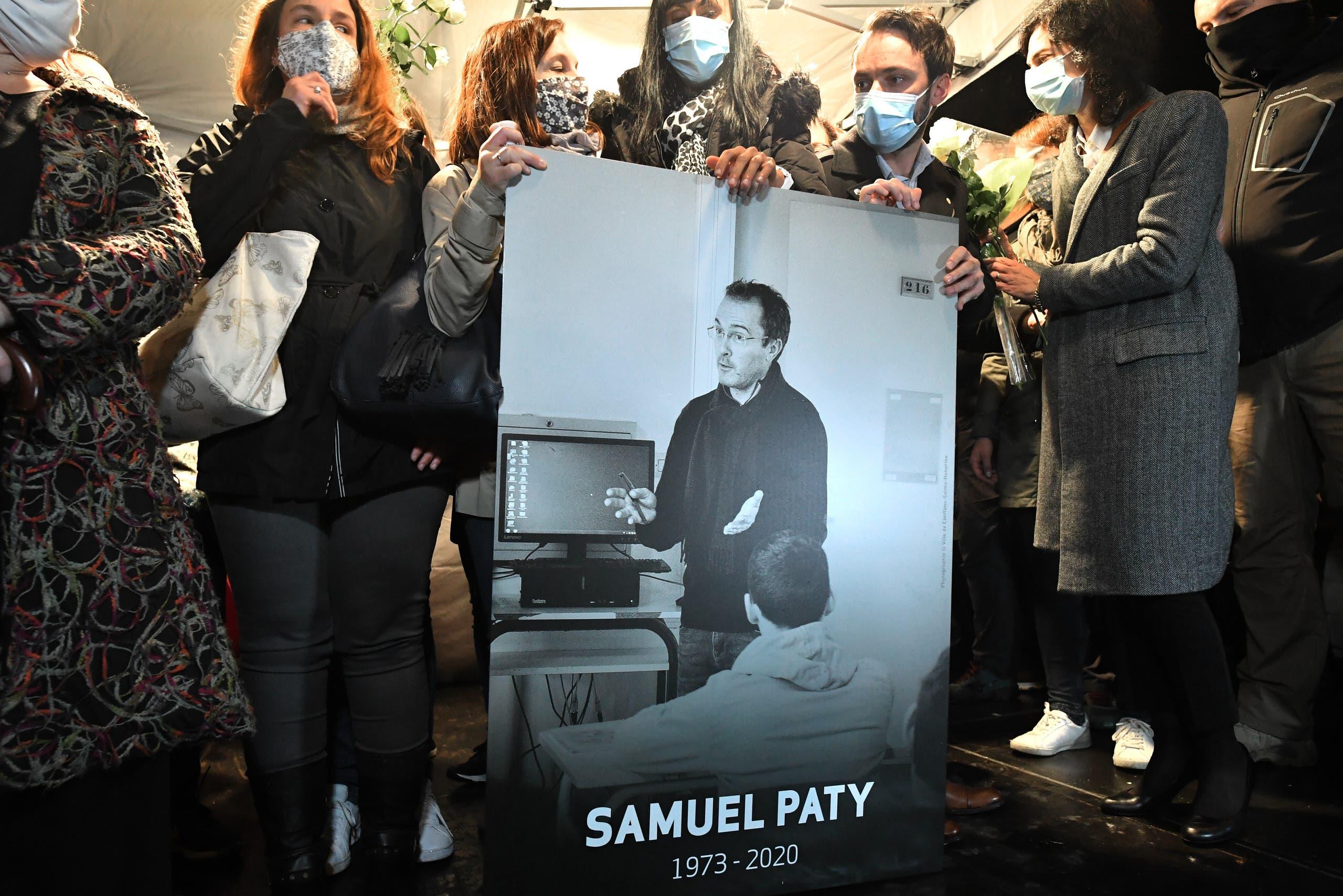 صورة سامويل باتي أستاذ فرنسا المذبوح (أرشيفية- فرانس برس)