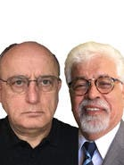 Dr. Kamal Azari and Mohsen Sazegara