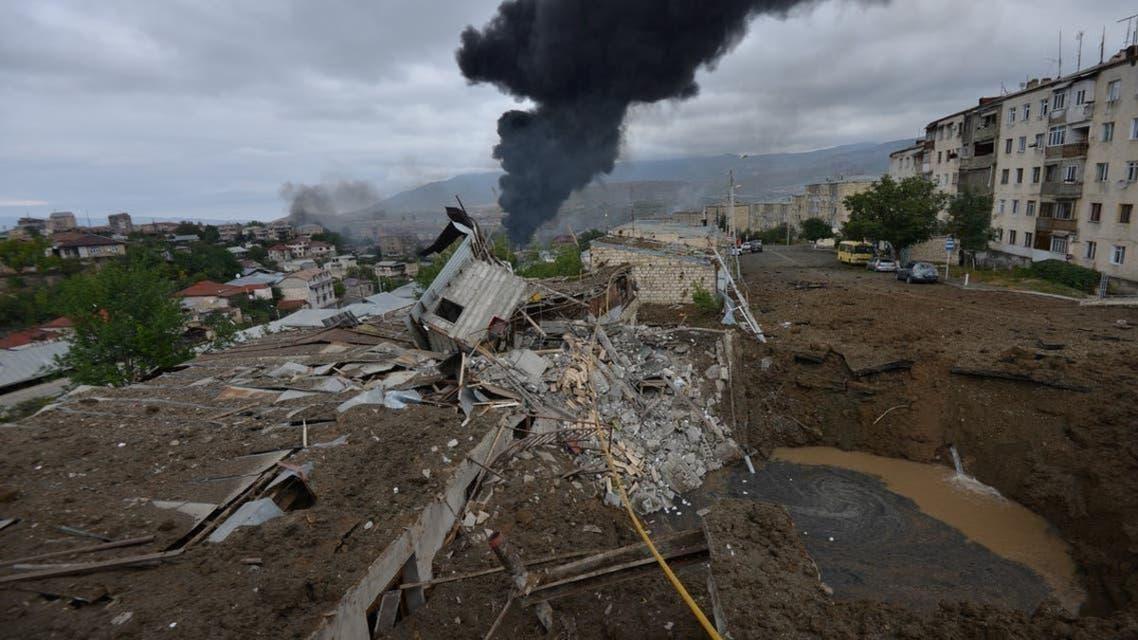 Armenia and Azerbaijan Conflict , Hit Drone