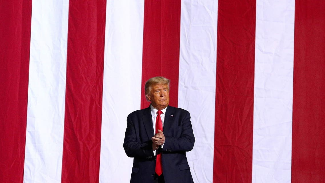U.S. President Donald Trump holds a campaign rally in Gastonia, North Carolina, U.S., October 21, 2020. REUTERS/Tom Brenner TPX IMAGES OF THE DAY