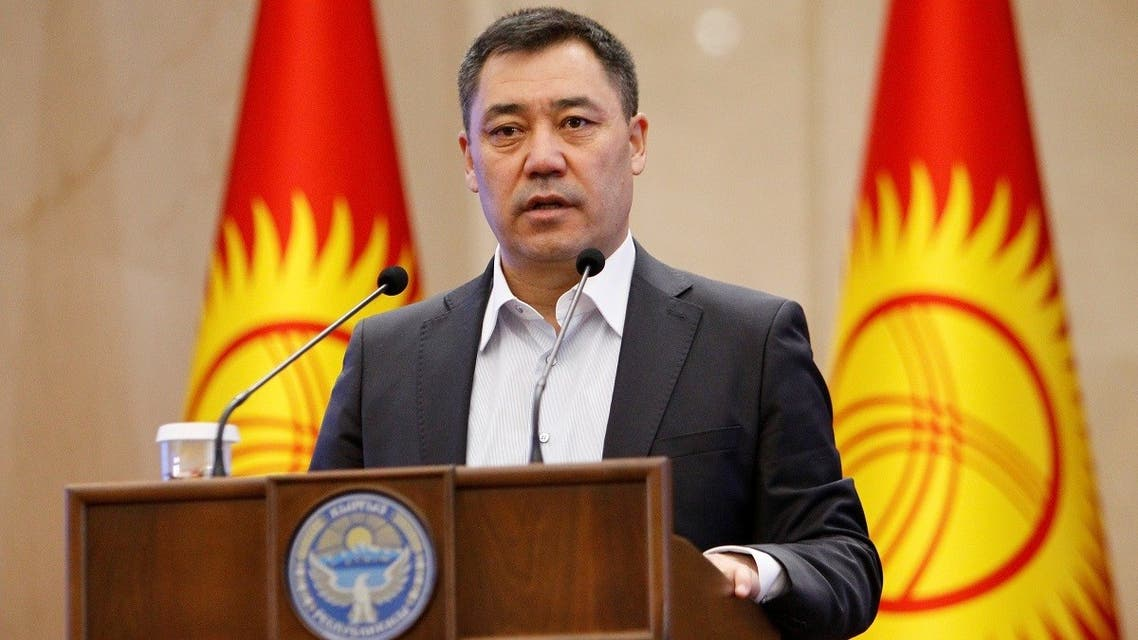 extraordinary session of parliament in Bishkek, Kyrgyzstan, on October 16, 2020. (Reuters)