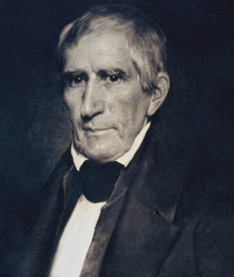 صورة للرئيس السابق وليام هنري هاريسون