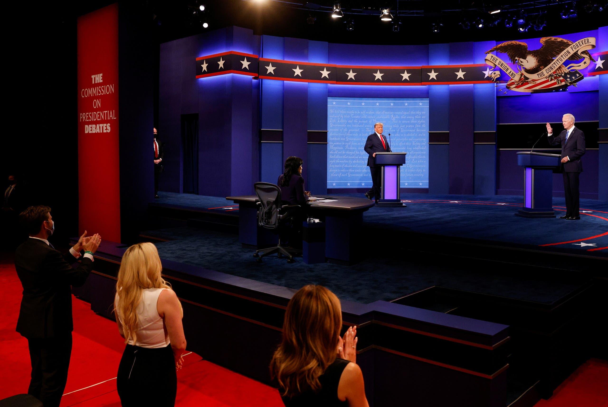 ترمب وبايدن خلال المناظرة