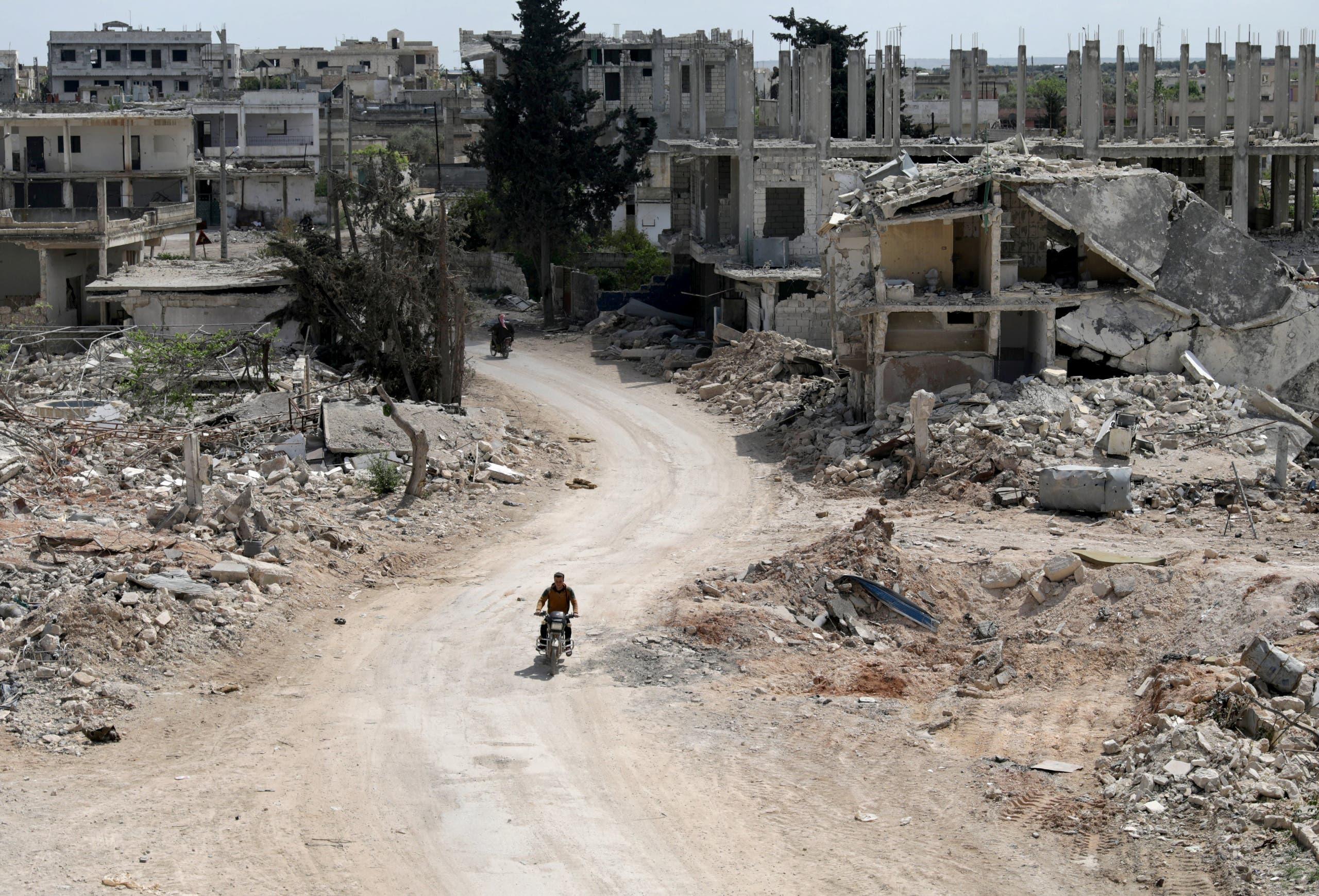 الدمار في إدلب (أرشيفية)