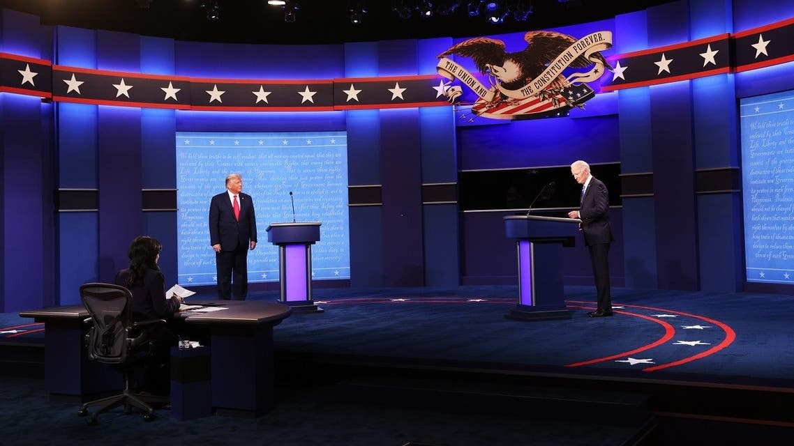 Trump and Biden take the stage for the final presidential debate at Belmont University. (AFP)