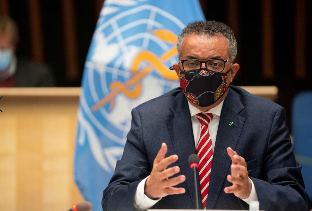 المدير العام للمنظمة تيدروس أدهانوم غيبيريسوس