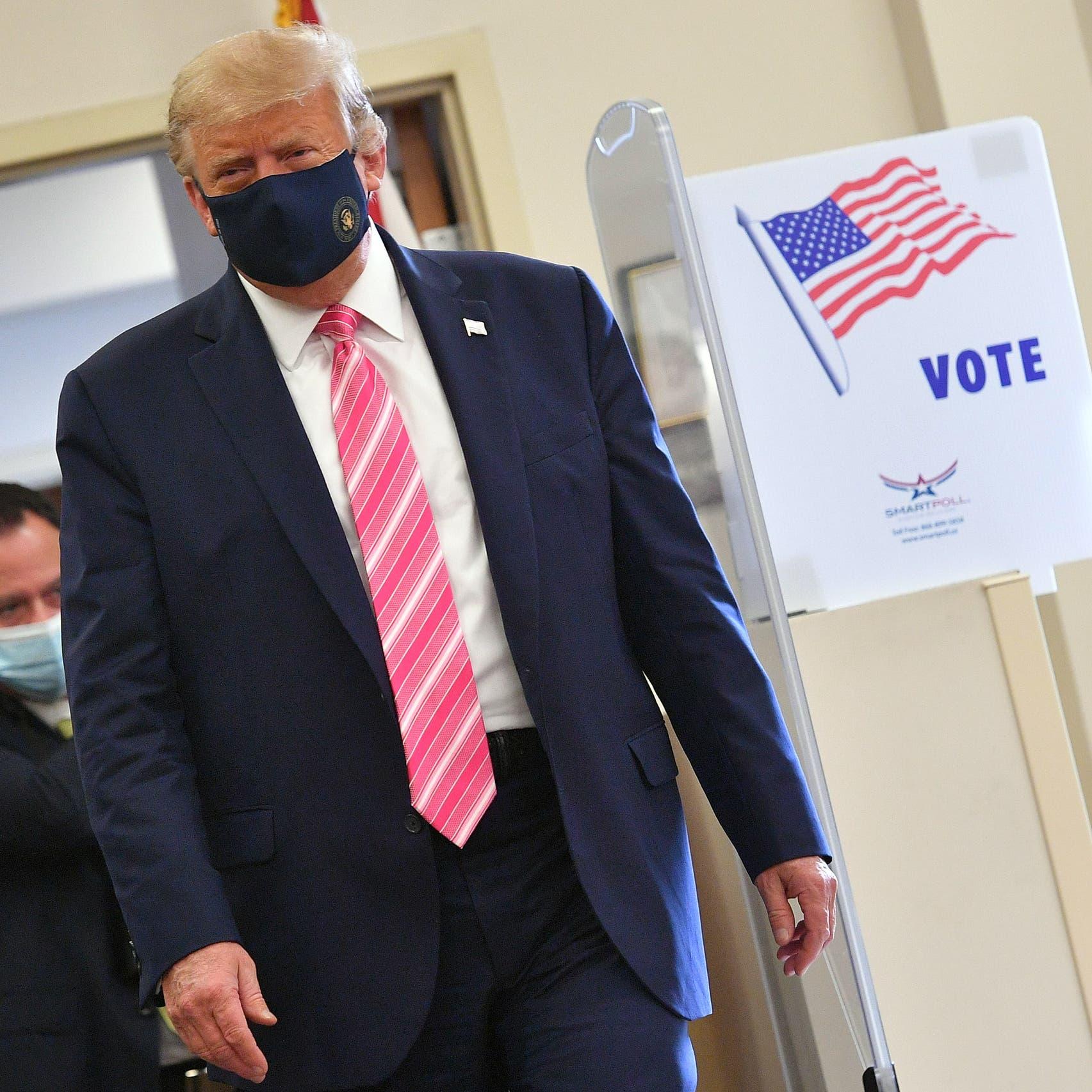 الانتخابات الرئاسية.. ترمب يدلي بصوته مبكرا في فلوريدا