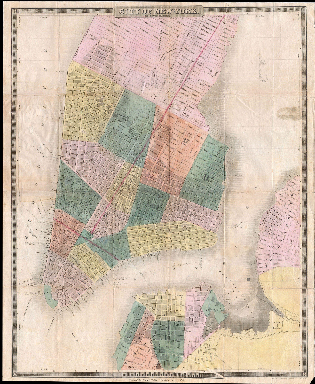 خريطة نيويورك عام 1835
