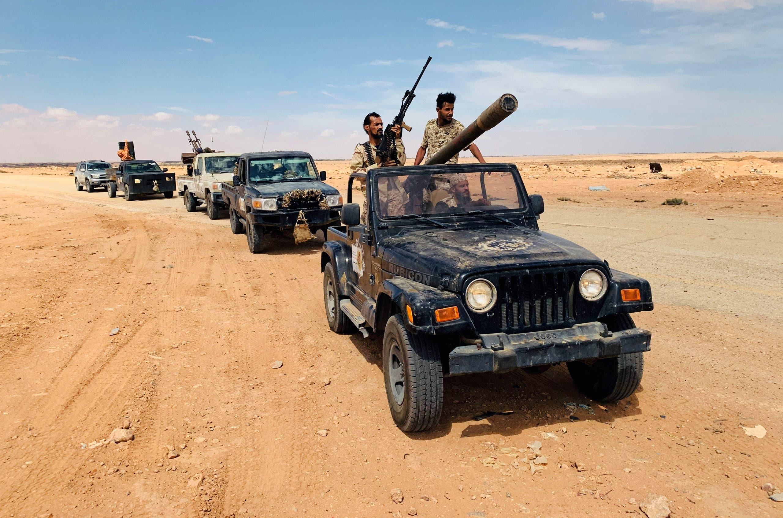 مقاتلون مولون لحكومة الوفاق في ليبيا (أرشيفية)