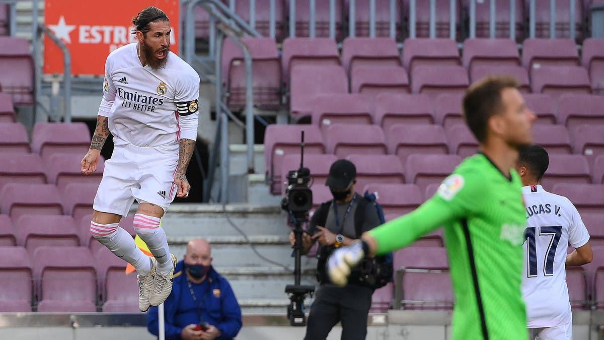 """ريال مدريد يمسح أحزانه ويصدم برشلونة بثلاثية في """"كامب نو"""""""