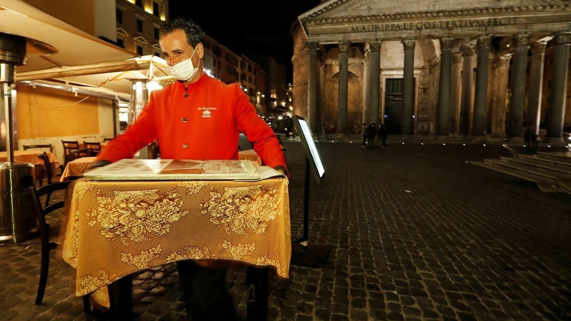 Italy faces a surge in the coronavirus disease (COVID-19) infections, in Rome. (Reuters)