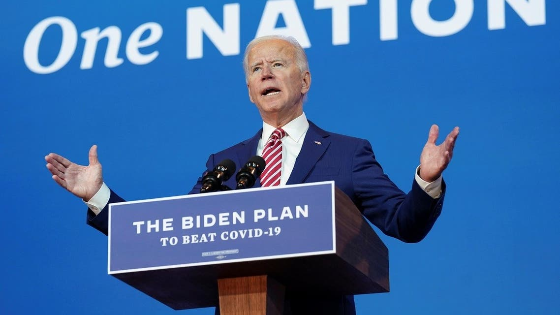 Joe Biden speaks about COVID-19 in Wilmington, Delaware. (Reuters)