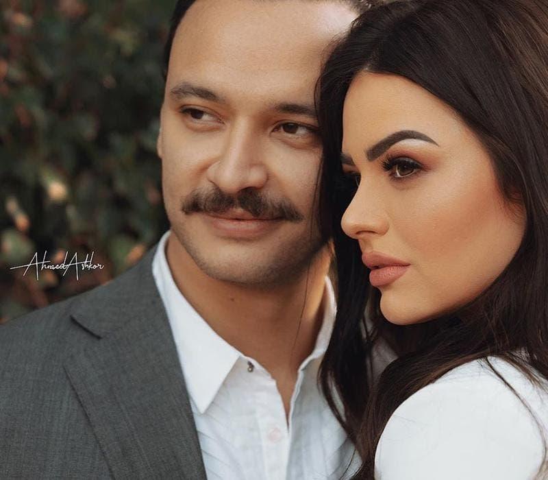 هنادي مع خطيبها الفنان أحمد خالد صالح