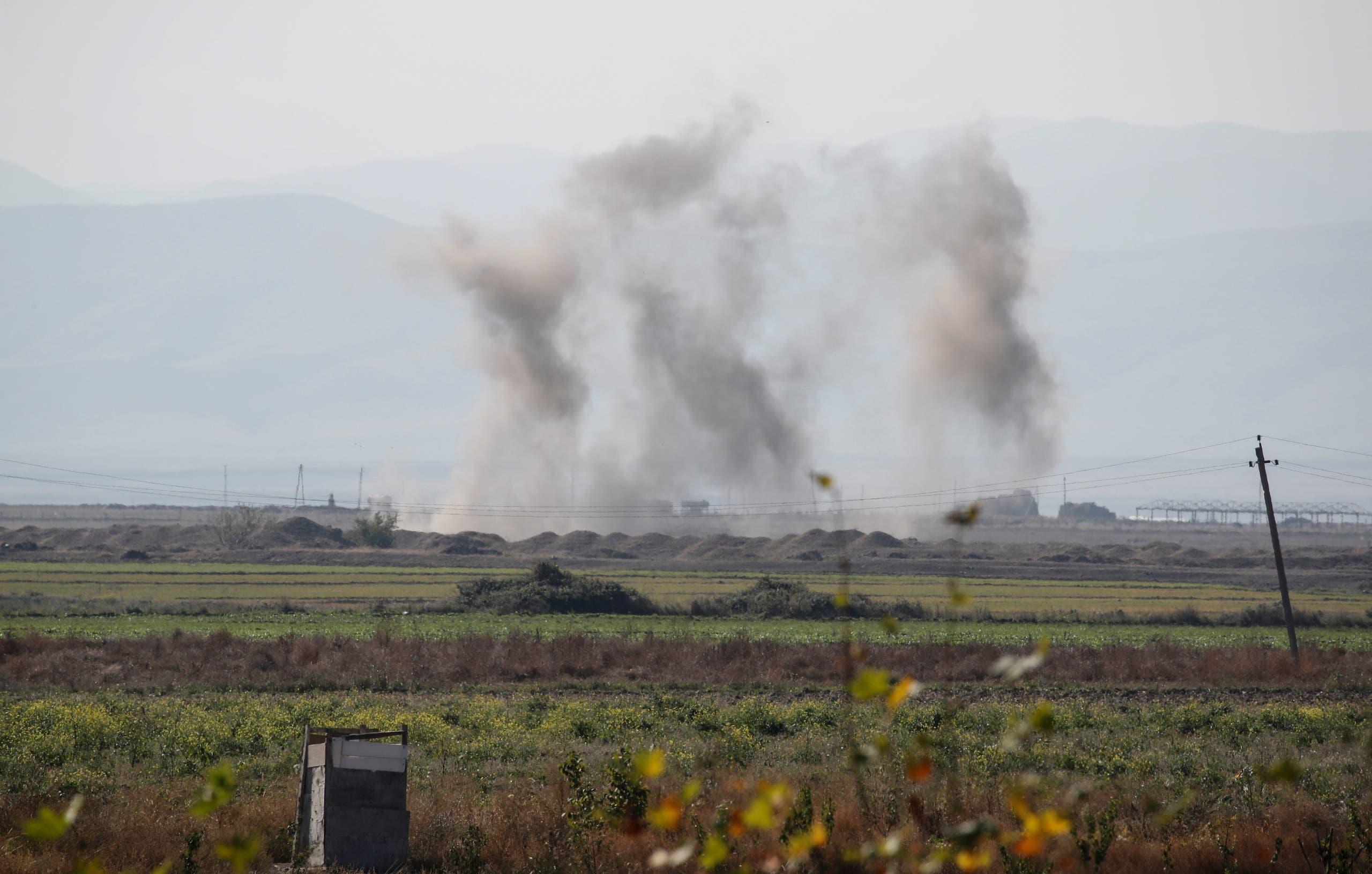 القصف في إقليم ناغورنو كاراباخ