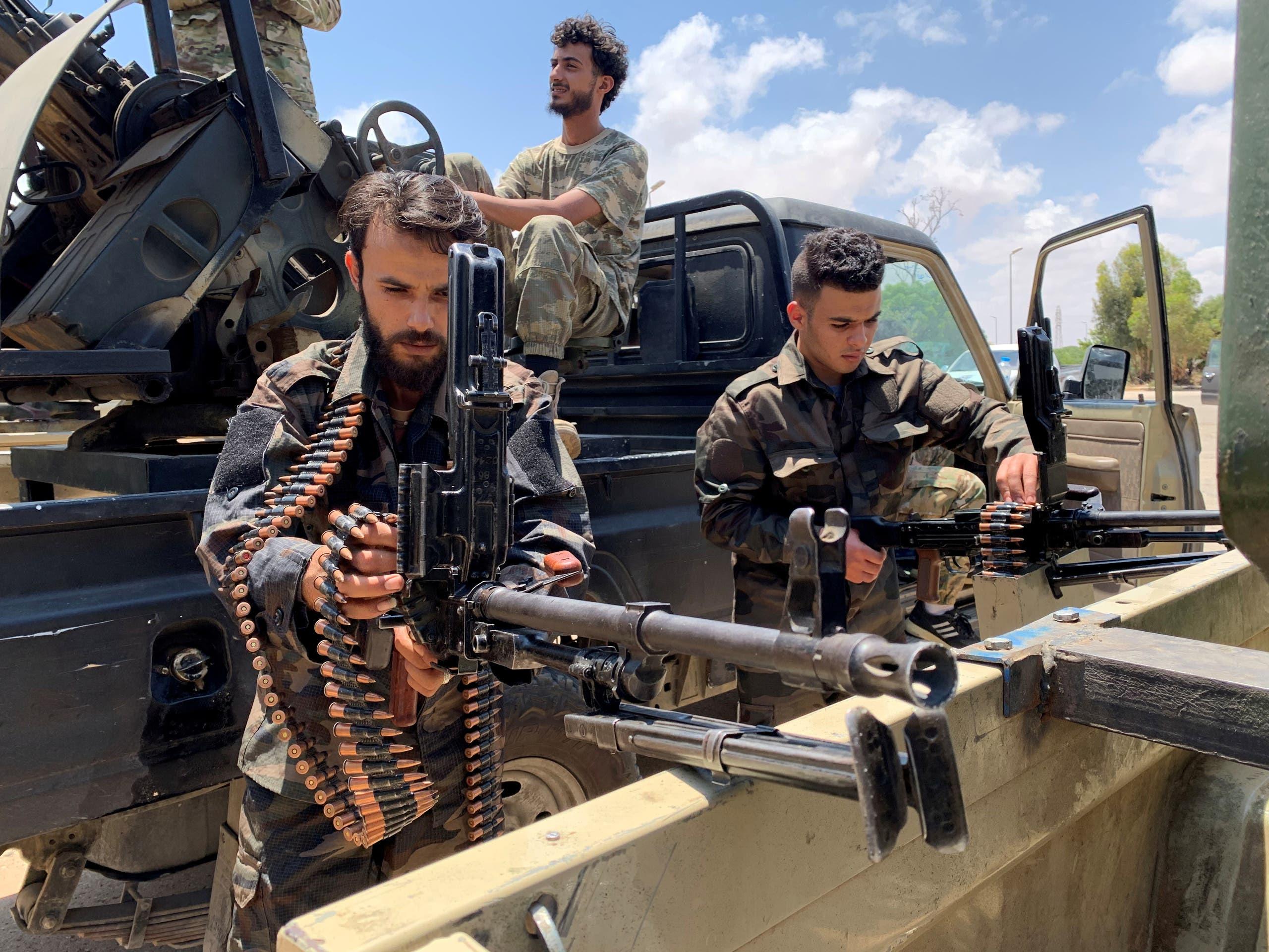 اعضای نیروی وفاق در طرابلس (بایگانی)