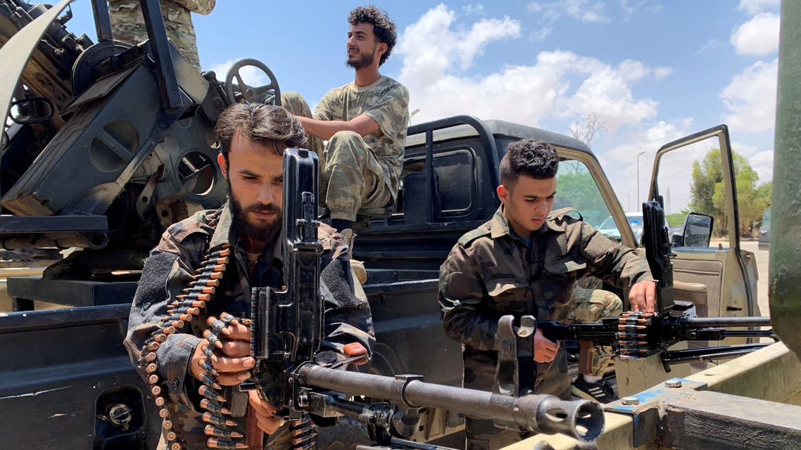 Troops loyal to Libya's Government of National Accord prepare themselves before heading to Sirte, in Tripoli, Libya, Libya, July 6, 2020. (File photo, Reuters)