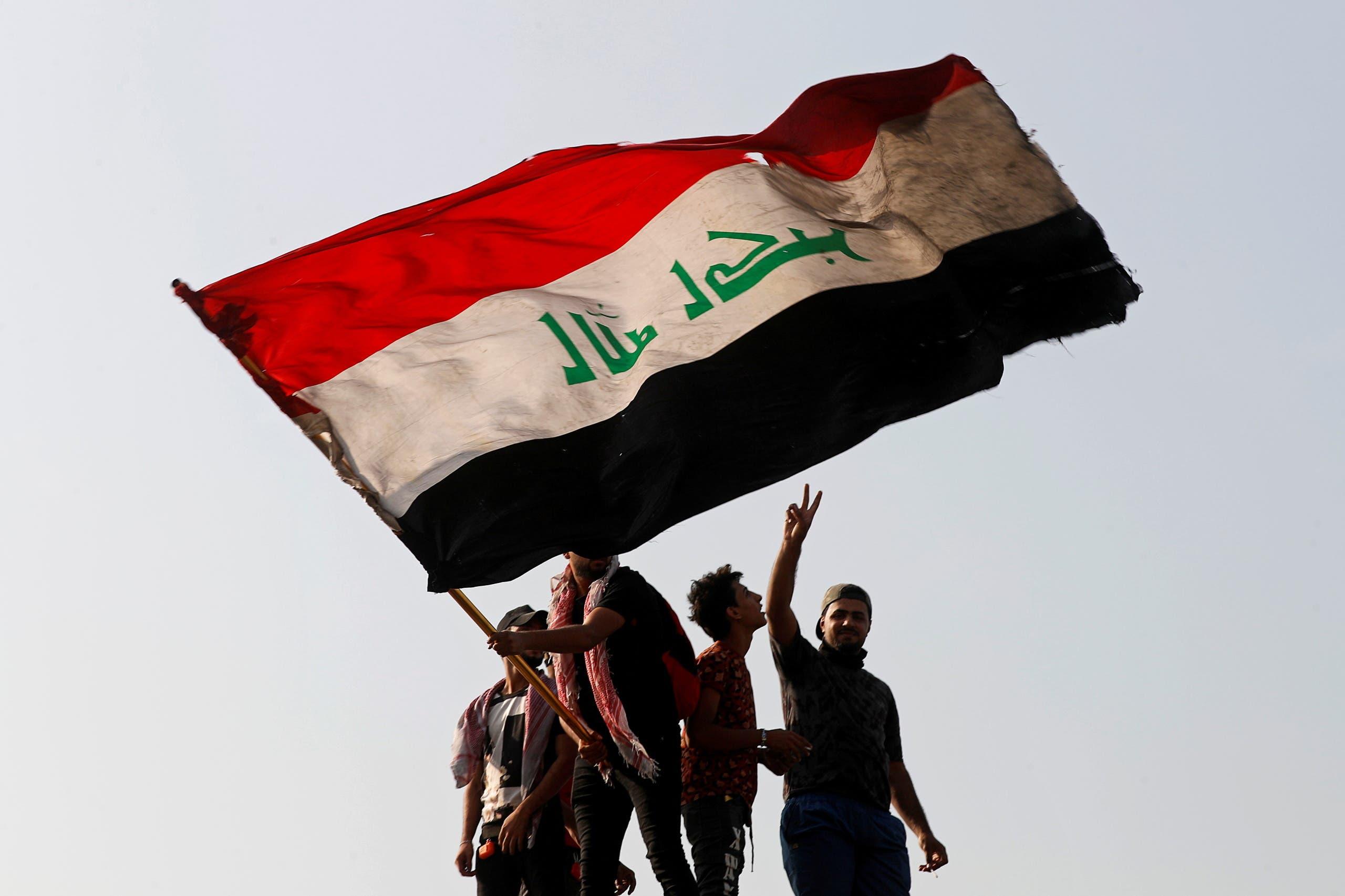 من تظاهرات بغداد يوم 25 أكتوبر 2020 (رويترز)
