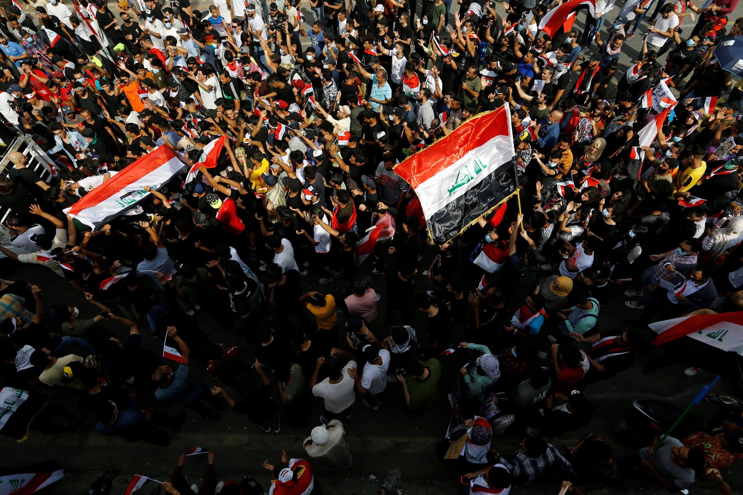 ذكرى الحراك في العراق تقطر دما.. اشتباكات وسط بغداد | هاشتاج اليوم - Hashtag Elyoum