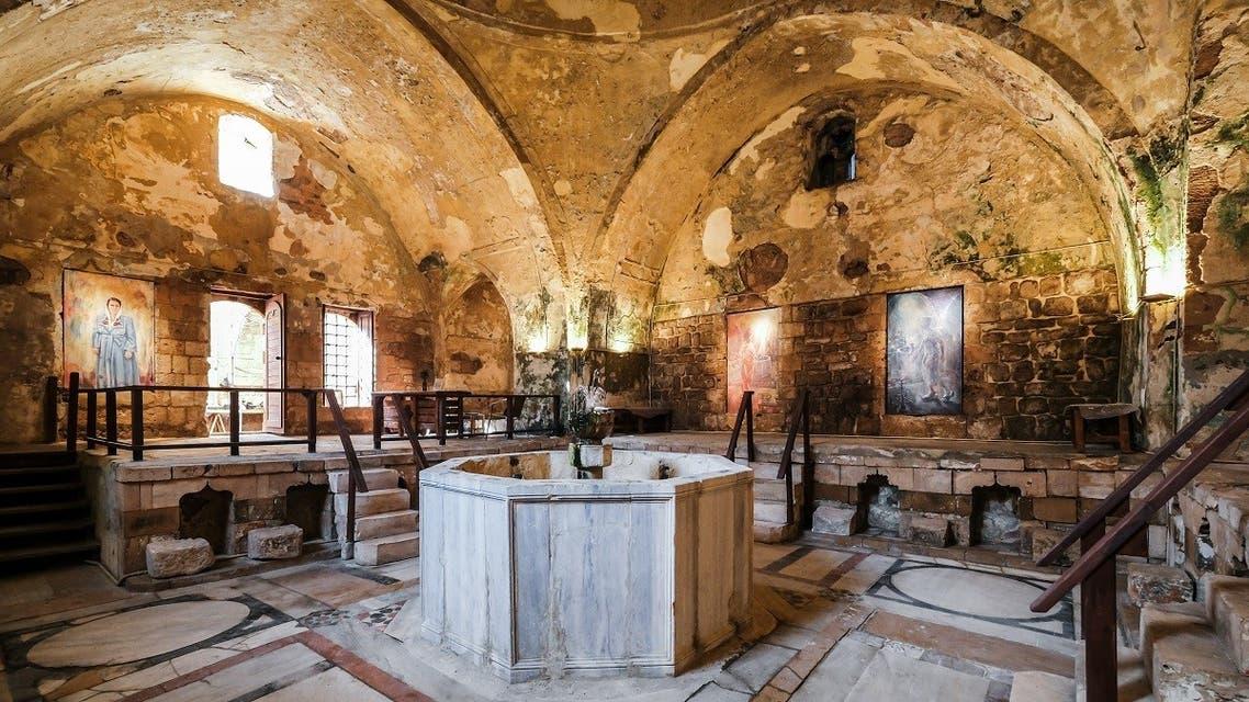 Photo shows the fountain hall of the  18th century Hammam Al-Jadeed  bathhouse. (Karim Sakr)