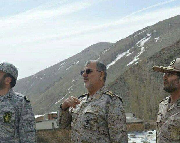محمد باكبور قائد القوات البرية للحرس الثوري الإيراني يزور منطقة خودا أفرين