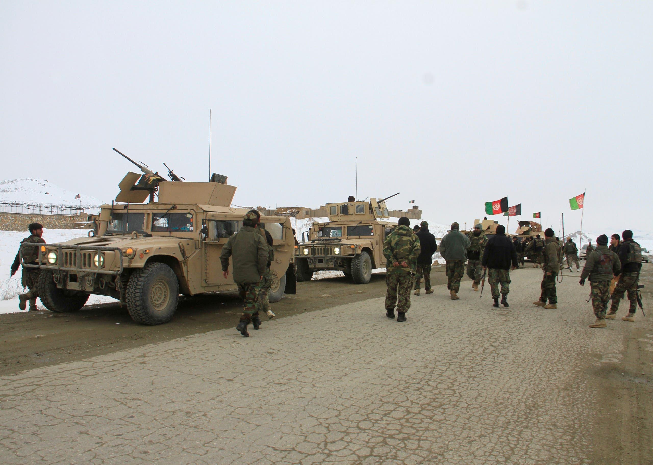 الأمن الأفغاني في إقليم غزنة (أرشيفية)