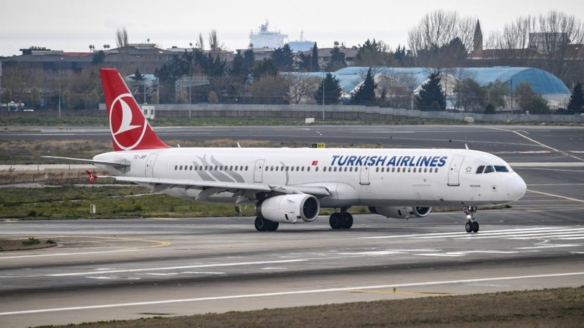 A Turkish Airlines plane is pictured on the tarmac of the Ataturk Airport on April 4, 2019, in Istanbul. (AFP)