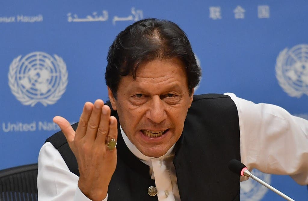 Pakistani Prime Minister Imran Khan speaks during a press conference at the United Nations Headquarters in New York on September 24, 2019. (File photo: AFP)