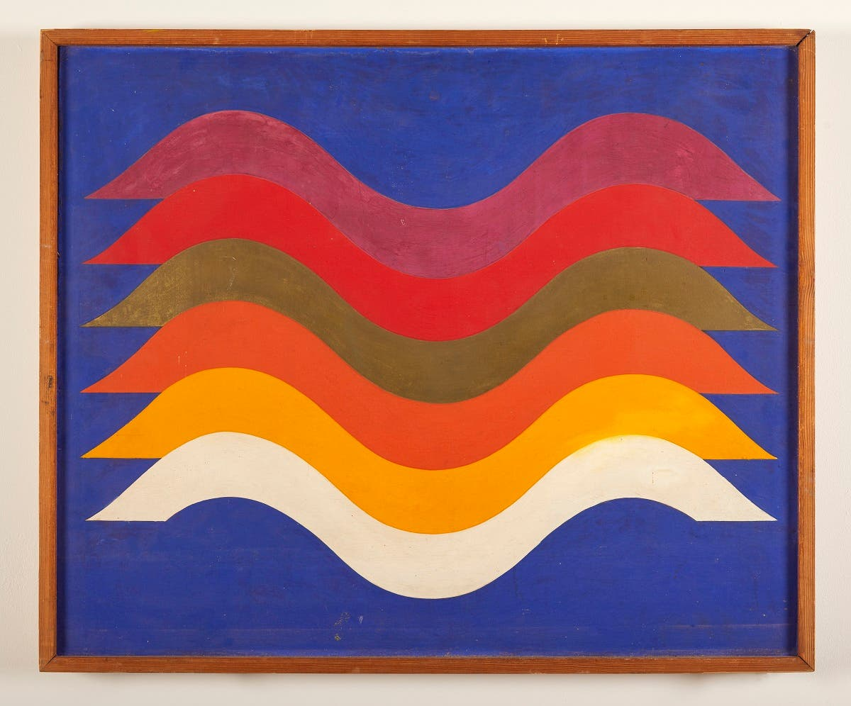 Untitled, 1970-1971, cellulose paint on wood. Private collection