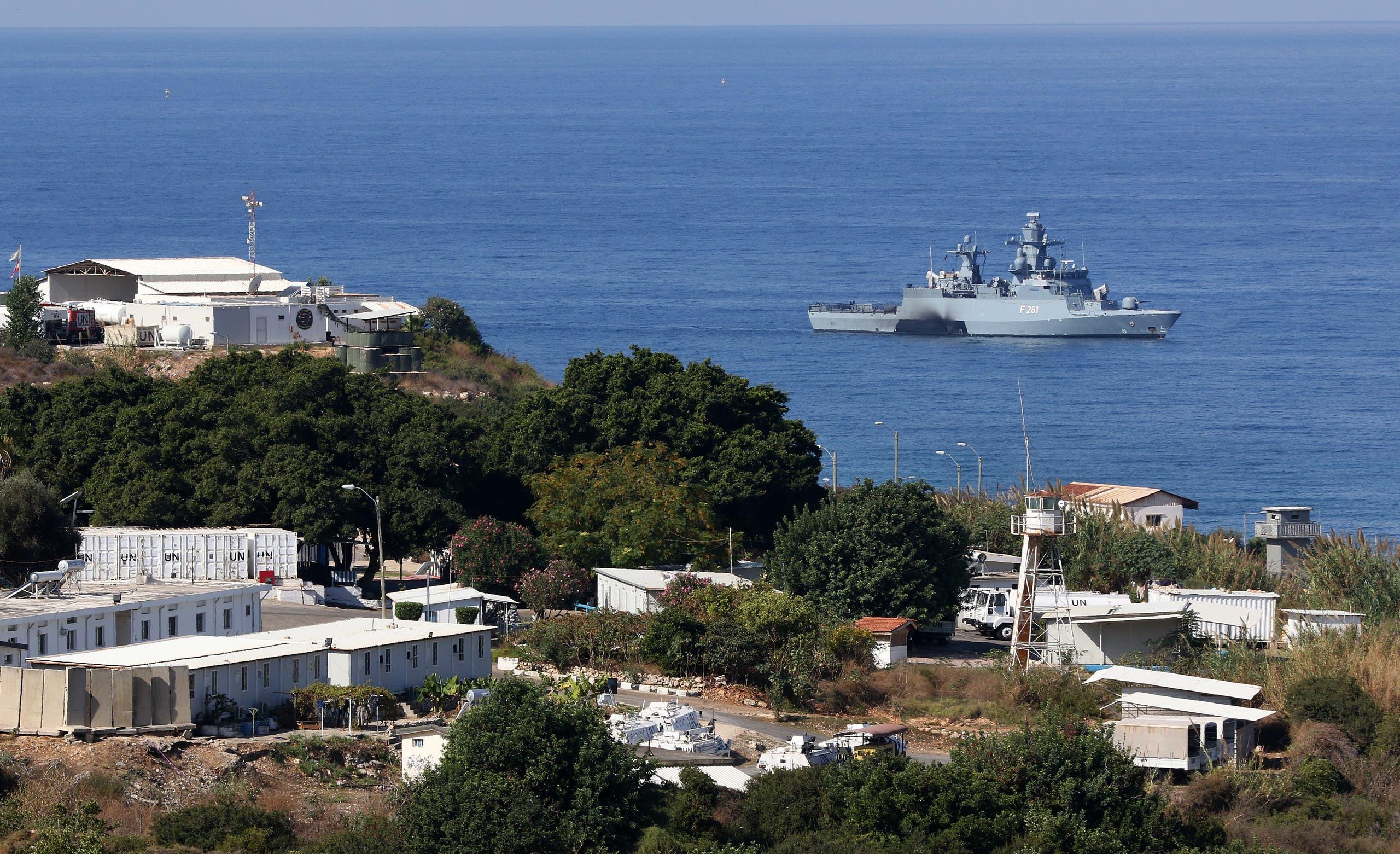 سفينة للأمم المتحدة في المياه الحدودية بين لبنان وإسرائيل