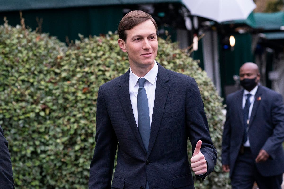 Former White House senior adviser Jared Kushner gives thumbs up as he walks back to the West Wing after a television interview at the White House, Monday, Oct. 26, 2020, in Washington. (AP/Alex Brandon)