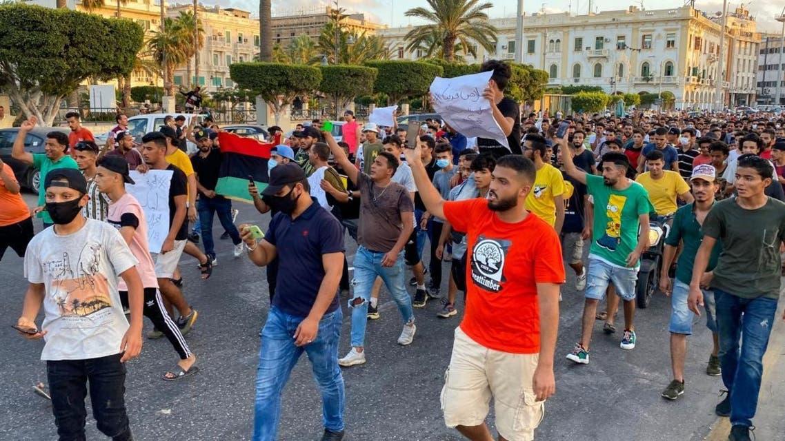 من الاحتجاجات الأخيرة بطرابلس