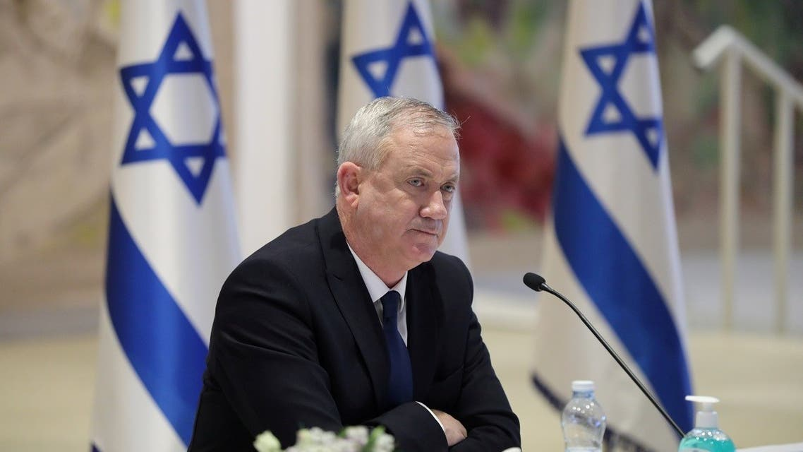Israeli Defense Minister Benny Gantz attends the first working cabinet meeting of the new government at the Chagall Hall in the Knesset. ( File photo: Reuters)