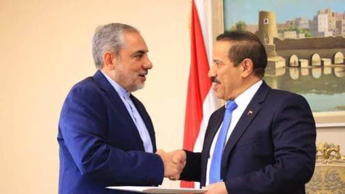 اول ظهور علني لسفير إيران لدى الحوثيين