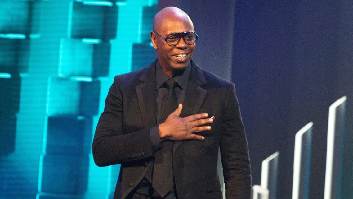 Dave Chappelle is honored with the Mark Twain Prize for American Humor at the Kennedy Center for the Performing Arts on Oct. 27, 2019, in Washington. (AP)