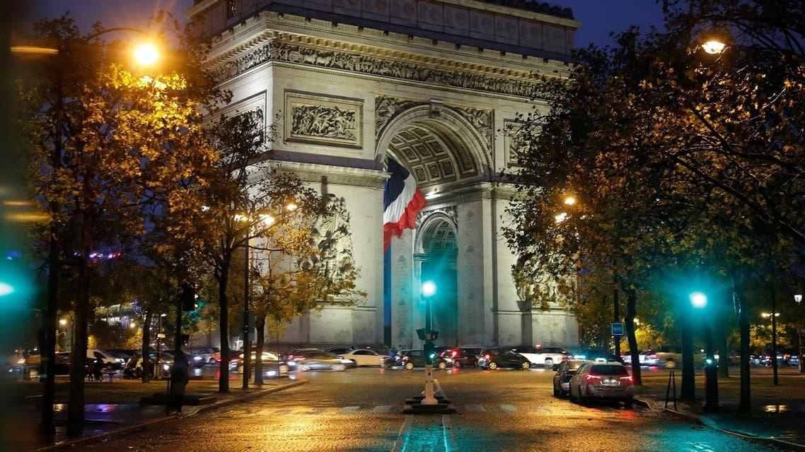 A view shows the Arc de Triomphe in Paris, France, October 27, 2020. (Reuters/Charles Platiau)
