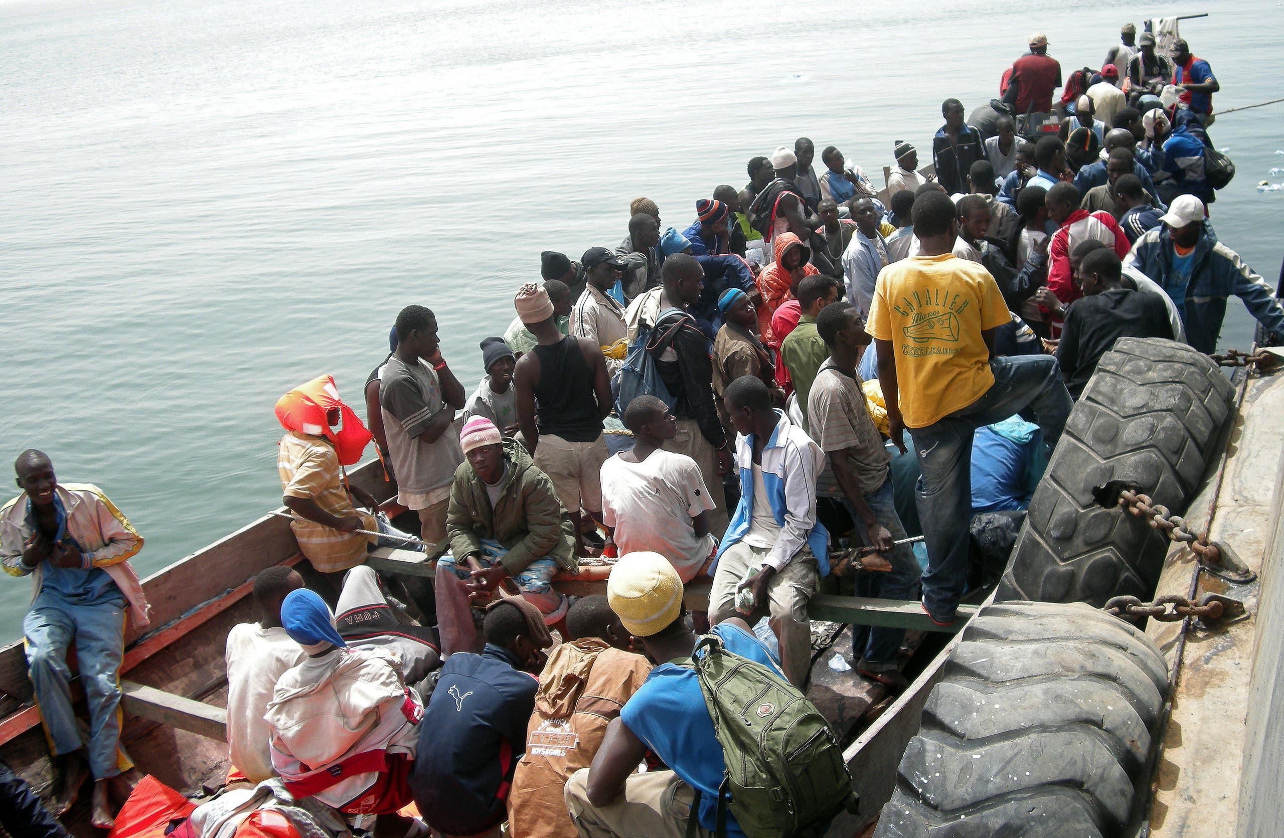 من إنقاذ حفر السواحل الموريتاني لمهاجرين من غامبيا في 2008