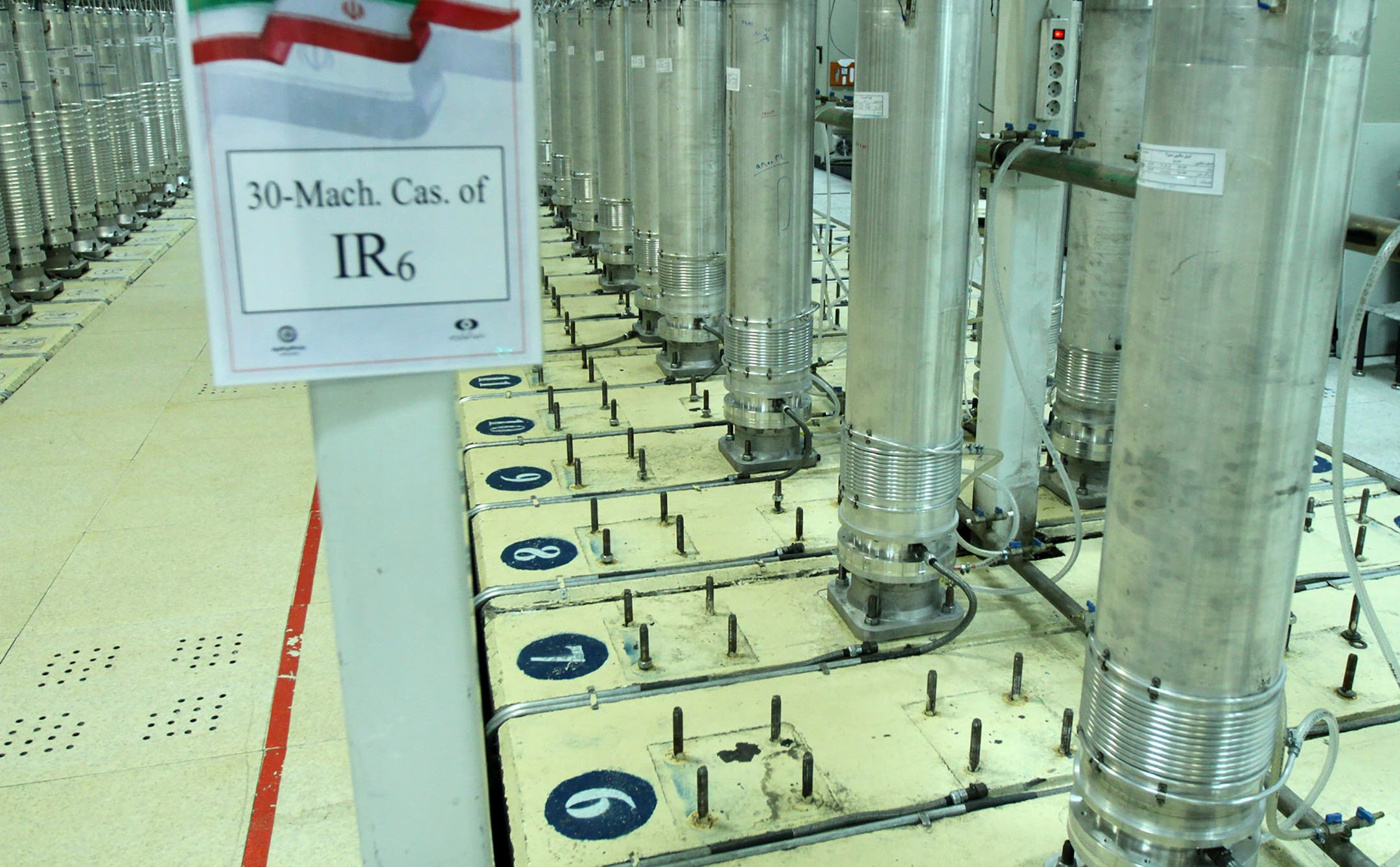 Centrifuge machines in the Natanz uranium enrichment facility in central Iran. (File photo: AP)